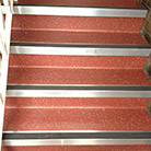 Safety flooring on staircases