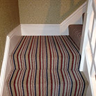 Stripey carpet to stairs